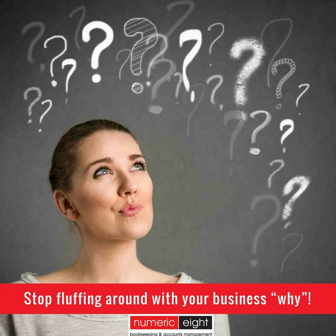 "Stop Fluffing Around With Your Business ""Why""!"